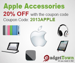 Get 20% off on Apple Accessories. Coupon: 2013APPLE