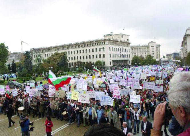 Учителската стачка през 2007г.,която събори тройната коалиция.