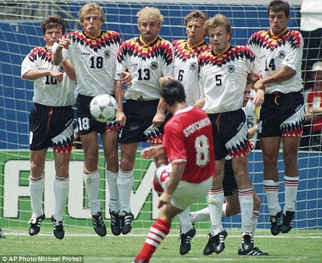 Христо Стоичков преодолява стената на Германия и  прави великолепен гол за България!